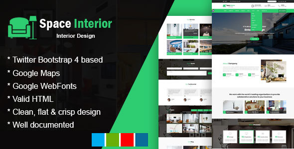 Space Interior - HTML Template for Architecture, Construction, and Interior Design