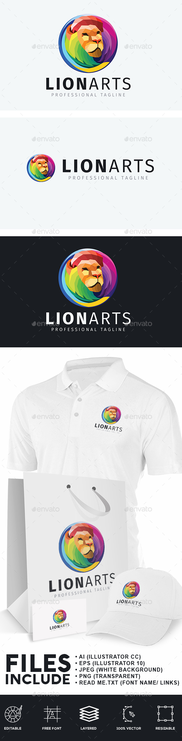 Artistic Lion Logo
