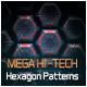 Mega Hi-Tech Hexagon Patterns - GraphicRiver Item for Sale