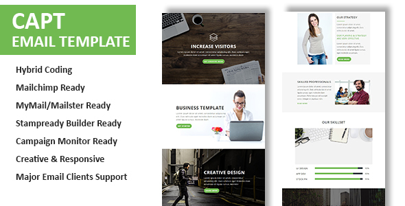 Capt - Multipurpose Responsive Email Template With Online StampReady Builder Access