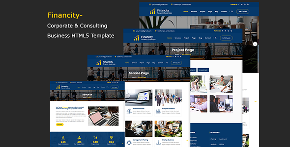 Financity – Corporate & Consulting Business Template