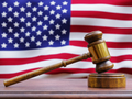 Gavel in front of American Flag - PhotoDune Item for Sale