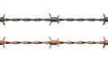 Seamless Repeating Clean and Rusty Barbed Wire - PhotoDune Item for Sale