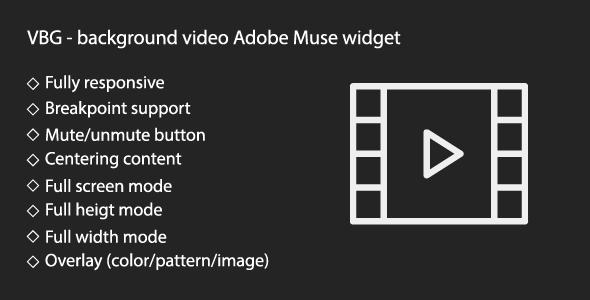 VBG - responsive background video widget