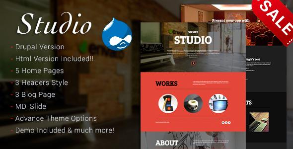 Studio - Multipurpose Technology Drupal 7.6 Theme