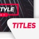Modern Simple Titles - VideoHive Item for Sale