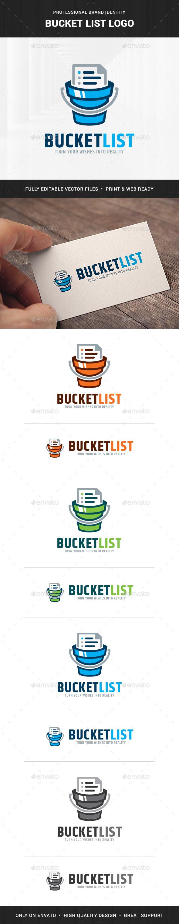 Bucket List Logo Template