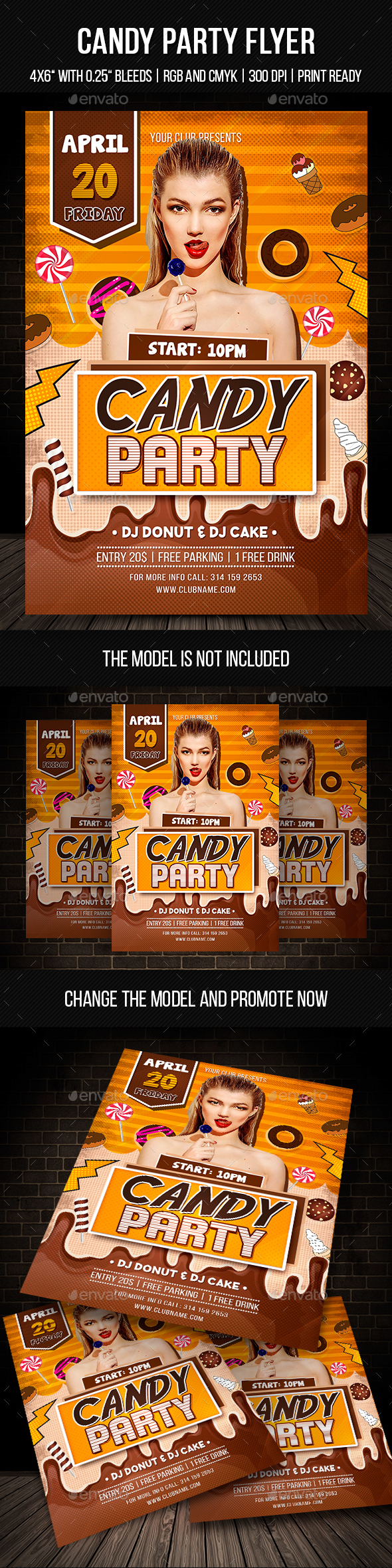 Candy Flyer Graphics, Designs & Templates from GraphicRiver