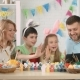 Portrait of a Friendly Family Preparing for the Easter at Home - VideoHive Item for Sale