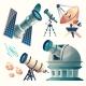 Vector Cartoon Astronomy Set - GraphicRiver Item for Sale
