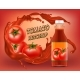 Vector 3d Realistic Poster of Tomato Ketchup - GraphicRiver Item for Sale