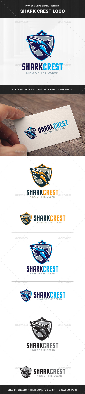 Shark Crest Logo Template