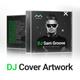 GrooveLine - DJ Mix / Album CD Cover Artwork PSD Template - GraphicRiver Item for Sale