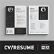 Minimalist CV / Resume - GraphicRiver Item for Sale