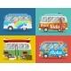 Four Hippie Vans - GraphicRiver Item for Sale