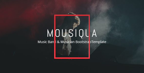Mousiqua - Music Band  Html Template