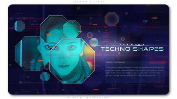 Techno Shapes Digital Slideshow