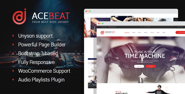 AceBeat - DJ Personal Page WordPress Theme