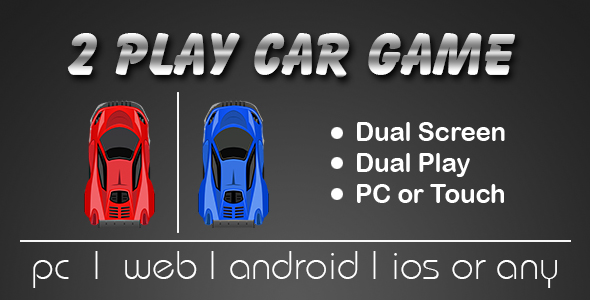 2 Players Car Game (Dual Screen)