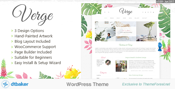 Verge - Easy Watercolor WordPress Theme