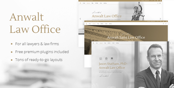 Anwalt - Law Firm and Lawyer Theme
