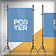 Poster Mockup / Full Paper Size - GraphicRiver Item for Sale