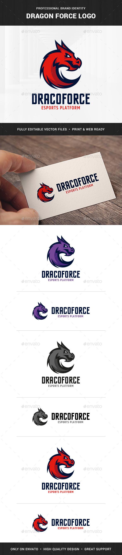 Dragon Force Logo Template