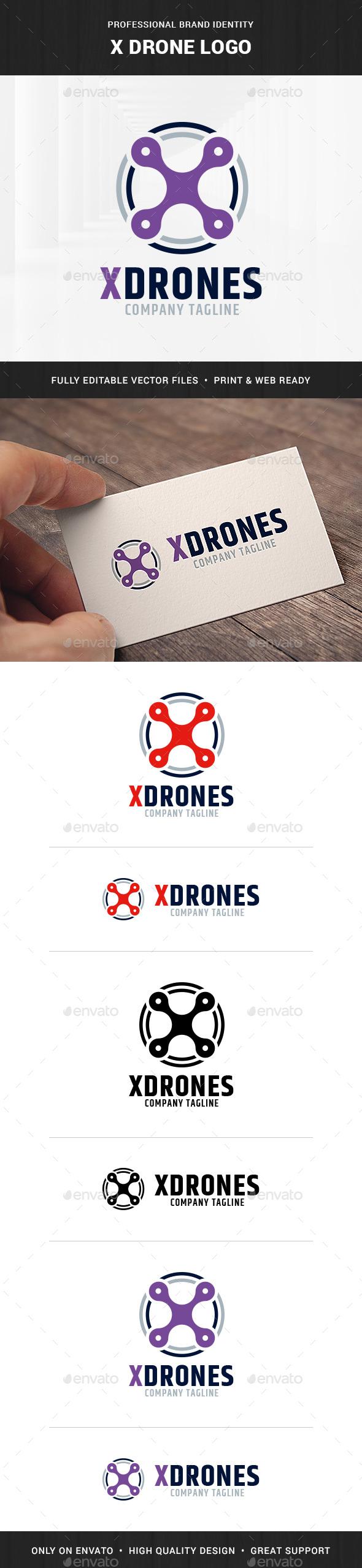 X-Drone Logo Template