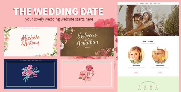 The Wedding Date - Responsive HTML Template