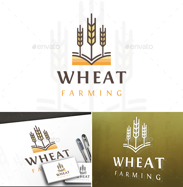 Wheat Color Lines Logo