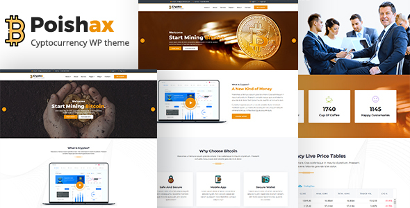 Poishax - Digital Cryptocurrency WordPress Theme