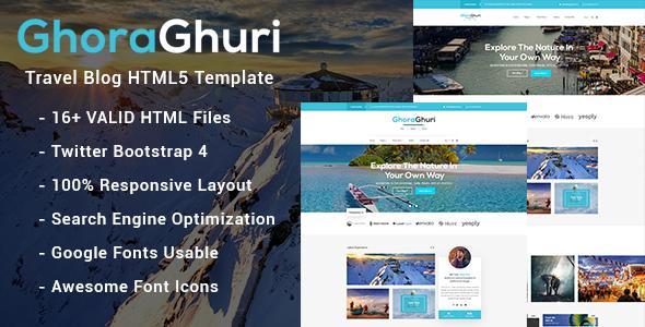 Ghoraghuri Travel Blog HTML Template