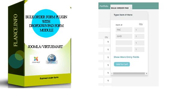 Bulk Order Form Plugin with Dropdown Pad Module