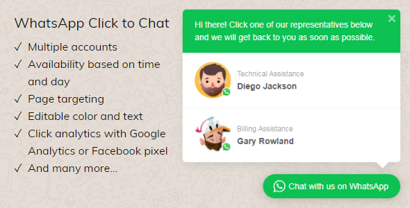 WhatsApp Click to Chat Plugin for WordPress, WhatsApp Click to Chat Plugin for WordPress free download, WhatsApp Click to Chat Plugin for WordPress nulled, WhatsApp Click to Chat Plugin free download, WhatsApp Click to Chat Plugin nulled