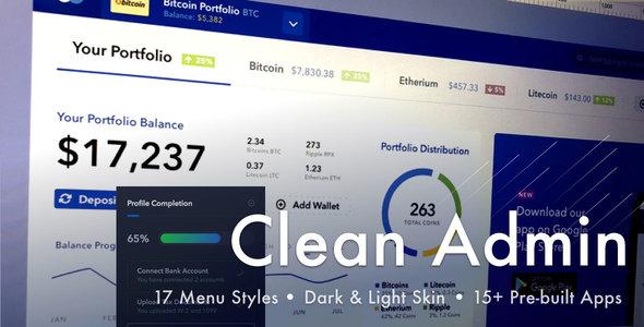 Light Admin - Wyczyść szablon HTML Dashboard Bootstrap 4 z Crypto