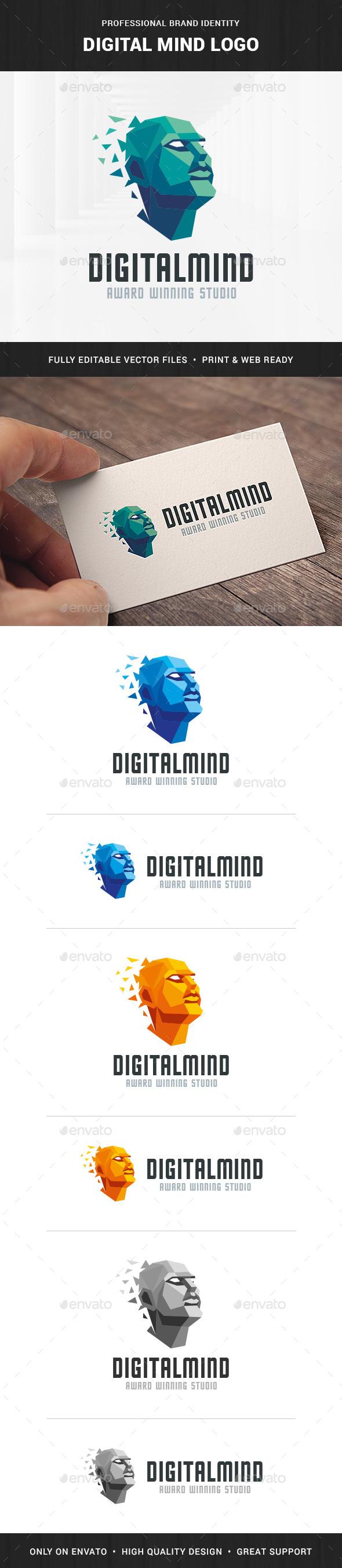 Digital Mind Logo Template