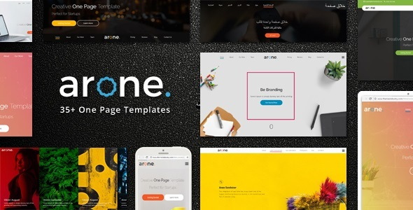 Arone - One Page Parallax Joomla Template