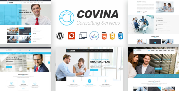 Covina – Business Consulting and Professional Services WordPress Theme