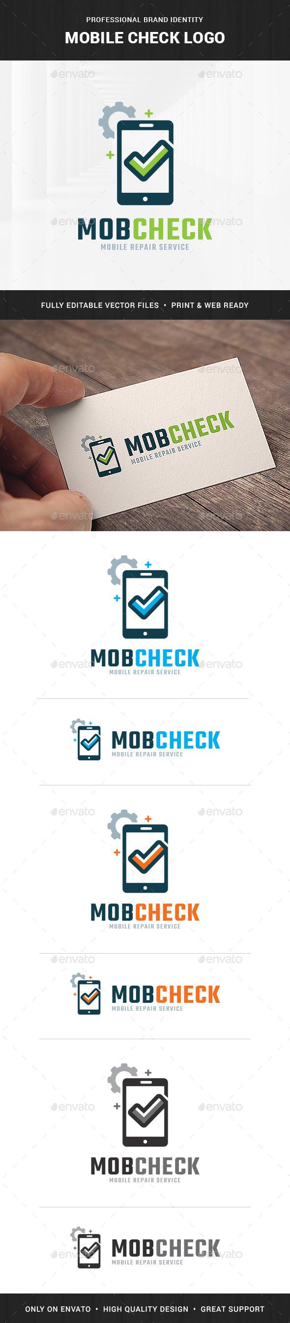 Mobile Check Logo Template