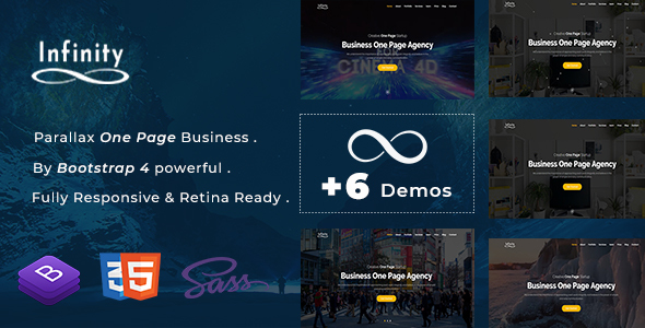 Download Infinity – One Page Parallax Nulled