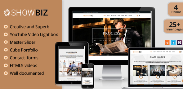 Showbiz - Multipages Business HTML Template