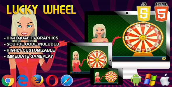 Lucky Wheel - HTML5 Casino Game Download