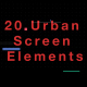 20 Urban screen Elements - VideoHive Item for Sale