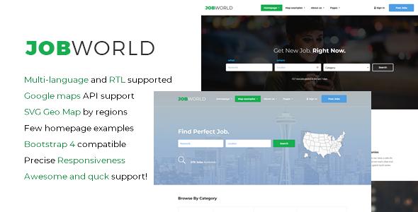 JobWorld - Job Portal HTML Template