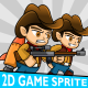 Cowboy Hoodie 2D Game Character Sprite - GraphicRiver Item for Sale