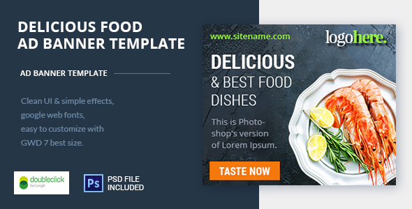 Food and Restaurant HTML Ad Banner 05