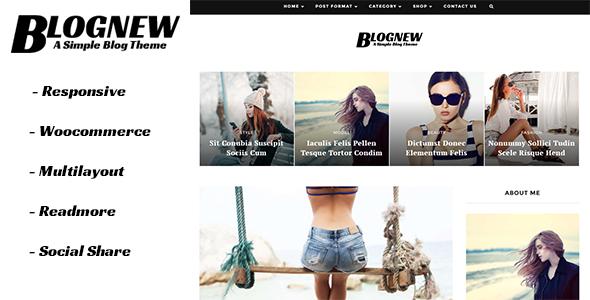 Blognew - A Simple WordPress Blog Theme