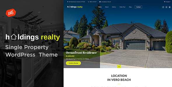 Holdings Realty - Single Property Theme