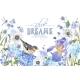 Blue Flower Bird Banner - GraphicRiver Item for Sale