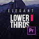 Elegant Lower Thirds for Premiere - VideoHive Item for Sale